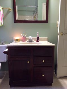 1000 images about bathroom on pinterest shower curtains for Bombay mahogany kitchen cabinets