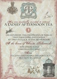 Image result for formal british tea party invitation