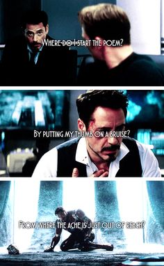 Tony Stark and the bruises that won't heal.