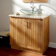 "36"" Montara Teak Vessel Sink Vanity Signature Hardware http://www.amazon.com/dp/B00I55CBWM/ref=cm_sw_r_pi_dp_.my6tb0J9XVEB"