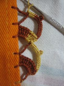 Filomena Crochet e Outros Lavores: - Tutorial de bico de crochet Thread Crochet, Crochet Trim, Love Crochet, Beautiful Crochet, Crochet Flowers, Crochet Lace, Crochet Stitches, Crochet Edging Patterns, Crochet Borders