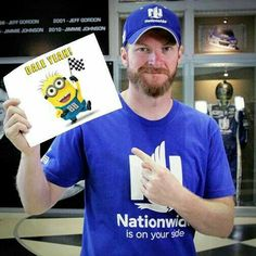 Minions and Dale Earnhardt Jr