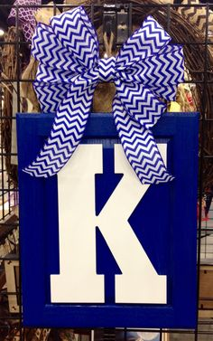 A personal favorite from my Etsy shop https://www.etsy.com/listing/226320721/university-of-kentucky-monogram-door