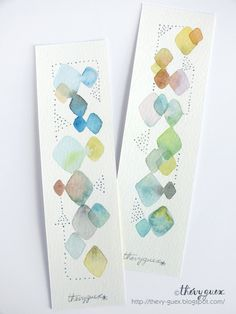 Items similar to Pastel Abstract Geometric Original Watercolor Painting Bookmarks Rhombus Diamond Shape Handpainted Paper Bookmarks for Booklovers on Etsy art love Bookmarks For Books, Paper Bookmarks, Watercolor Bookmarks, Easy Watercolor, Watercolour Tutorials, Watercolor Techniques, Watercolor Cards, Watercolor Landscape, Watercolor Illustration