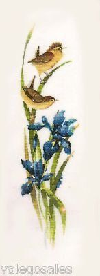 Heritage Valerie Pfeiffer #crossstitch Rhapsody In Blue ♥ #chart #birds #kidsroom #mothersday #handcraft #handmade #DIY #project #needlework #stitching