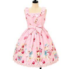 Angelic Pretty ☆ ·. Lyrical Bunny jumper skirt https://www.wunderwelt.jp/en/products/w-09919  IOS application ☆ Alice Holic ☆ release Japanese: https://aliceholic.com/ English: http://en.aliceholic.com/