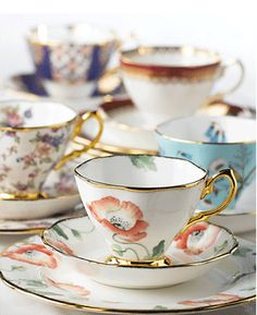 Royal Albert tea cups - I've been collecting tea cups for over a year now, and I always admire these ones whenever I see them.