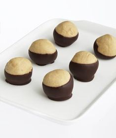 Buckeyes | You can't go wrong with this classic combination of creamy, nutty peanut butter covered in bittersweet chocolate. >> Must try these!