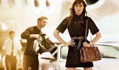 Michael Kors advertisement - belted shirt dress