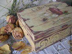 короб для чайных пакетиков красный кофейничек. - бордовый,короб,коробочка