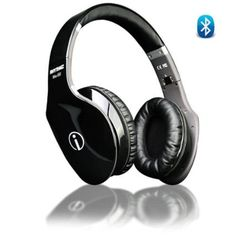 Wireless Fashion Hi-Fi Bluetooth Headphone Black Touch Gesture Control Blu Tooth