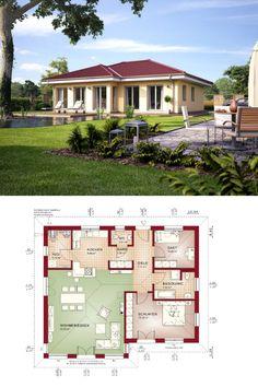 Bungalow Haus Evolution 100 V2 Mit Grundriss   Bien Zenker   Modernes  Fertighaus, Walmdach,