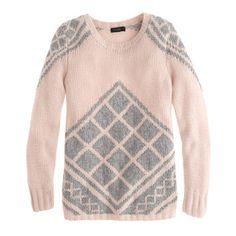 Handknit tile sweater - Pullover - Women's sweaters - J.Crew