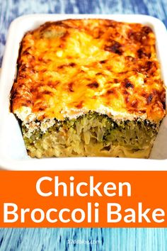 Are you looking for a KETO FRIENDLY dinner recipe that's quick and easy to serve your family while you lose weight? Check out this Chicken Broccoli Bake recipe that's perfect for Keto or 17 Day Diet #lowcarb #lowcarbdinner #lowcarbmeals #lowcarbmealplanning #ketodiet #17daydiet #17daydietrecipes Low Carb Recipes, Diet Recipes, Chicken Recipes, Chicken Broccoli Bake, Lunches And Dinners, Meals, Low Carb Meal Plan, Healthy Alternatives, Lchf