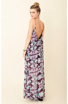 ShopStyle: blu moon U Back Babydoll Maxi Dress