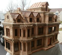 Would love to fill this doll house with furniture! - Extravagant Doll House - The Greenleaf Miniature Community