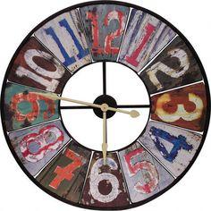Just love rustic-looking clocks.