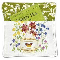 Mug Mat - Butterfly Tea Pot