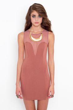 Mesh Plunge Dress