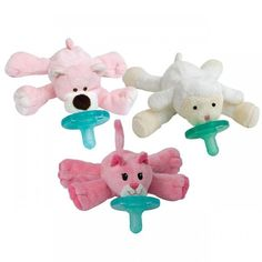 WubbaNub Infant Pacifier 3 Pack - Pretty In Pink