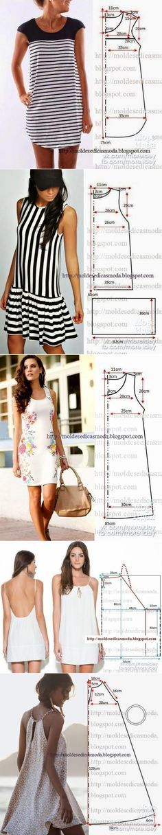 SEW QUICK SUMMER DRESSES! I'm a Fan of the Standard Sheath (the possibilities!!) and the Spaghetti Strap versions, How about You?~~https://www.pinterest.cim/bonniebuchanan