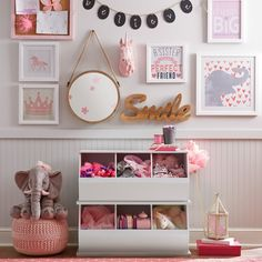 Aristocrat: Unicorn Trophy Decor | A unicorn bust in soft pink or white and glittering gold makes a magical trophy for your child's wall.