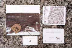 Rustic Wood Paper Wedding Invitation Suite