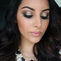 Smokey Golden Brown Eye Makeup Tutorial by Naseem D. Click to watch the video tutorial.