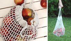 Robte parádu s vlastnou sieťovkou! Knitted Bags, Plant Hanger, Free Crochet, Straw Bag, Diy And Crafts, Projects To Try, Crochet Patterns, Homemade, Knitting