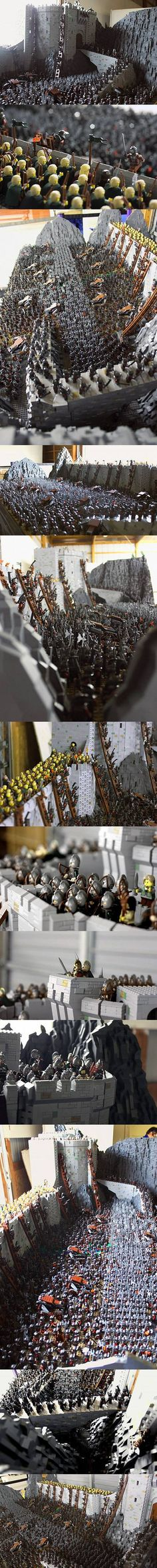 LEGO master recreates Lord of the Rings Battle of Helm's Deep with 150,000…