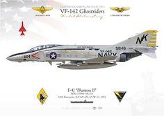 "UNITED STATES NAVY FIGHTER SQUADRON ONE FOUR TWO (VF-142) ""Ghostriders""USS Enterprise (CVAN 65), CVW-14. 1972 On Dec. 28th, 1972 Lt(JG) Scott Davis and Lt(JG) Geoffrey Ulrich shot down a MIG-21 with a AIM-9 ""Sidewinder"""