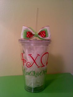 Alpha Chi Omega Tumbler-- I'm so obsessed with tumblers