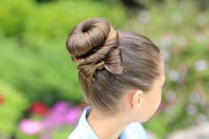 The Bow Bun. Such a cute style and not that hard!  LOVE it!  #cghbowbun #hairstyles #hairstyle #bowbun #bun #bow #twisthairstyle