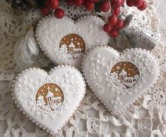 Christmas Sugar Cookies, Gingerbread Cookies, Holidays And Events, Happy Holidays, Royal Icing Decorated Cookies, Galletas Cookies, Buttercream Flowers, Sugar Art, Cookies Et Biscuits