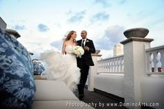 A beautiful #portrait of the #bride and the #groom on their #wedding day by #DominoArts Photography (www.DominoArts.com)