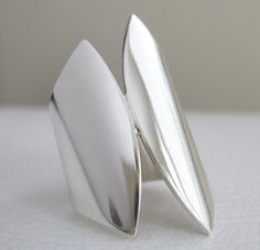 Sterling Silver Ring Wide Ring Modern Ring by JenniferWood on Etsy, $72.00