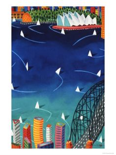Sydney Harbour Giclee Print by Ian Tremewen at AllPosters.com