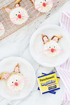 Basic cinnamon roll dough is transformed into adorable bunnies perfect for Easter brunch! So cute! #sponsored