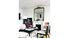8 Feminine French Rooms You'll Totally Envy via @domainehome