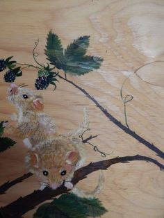 dormice -painted o wood - my painting
