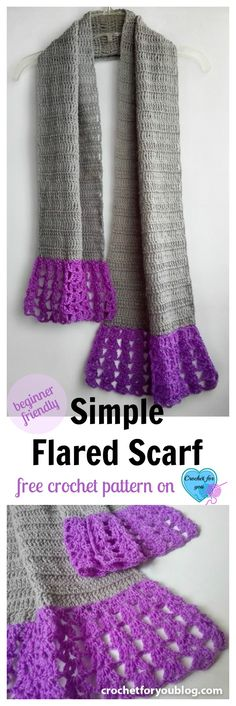Once you learn how to crochet basic stitches, this scarf is perfect for test your skill.