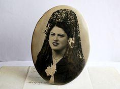 Vintage Portrait of a Spanish Lady by honeyandsea on Etsy