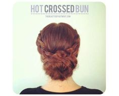 Pastry-Inspired Hair Tutorials - The Beauty Department Hot Crossed Bun Hair DIY is Gorgeous