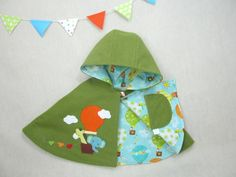 Children Capelet  Friends in Balloon.  Cape Poncho by ViolaStudio, $99.00