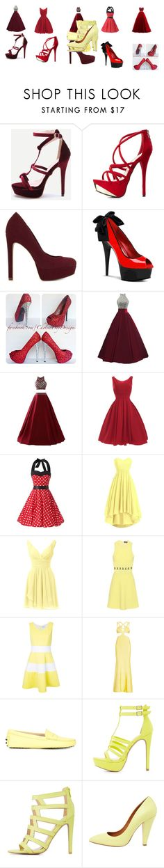 """""""Untitled #351"""" by megibson2005 on Polyvore featuring Charlotte Russe, ALDO, David Koma, Guild Prime, Hervé Léger, Tod's, Qupid and Mulberry"""