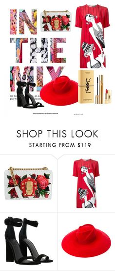 """In the red mix"" by nnnikolova ❤ liked on Polyvore featuring Dolce&Gabbana, Holly Fulton, Kendall + Kylie, Gucci and Yves Saint Laurent"
