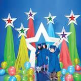 Primary Color Shining Stars Prop Set - New Deko Sites 5th Grade Graduation, Graduation Crafts, Graduation Theme, Kindergarten Graduation, Graduation Decorations, Star Decorations, School Decorations, In Kindergarten, Graduation Ideas