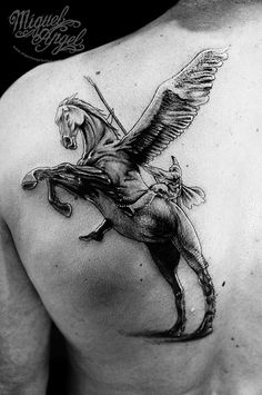Knight and horse custom tattoo I've had something along these lines in mind for a bicep tattoo.