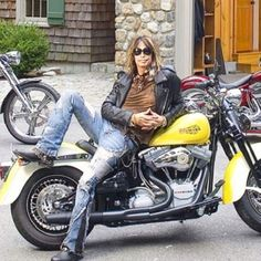 Steven Tyler on a Harley...enough said! Look at those jeans! HotHotHot!!!