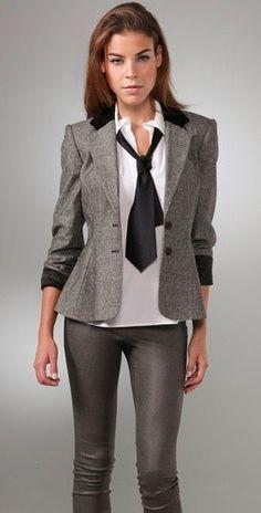Slight peplum style blazer